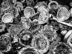 Vintage crystal doorknobs