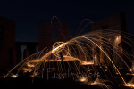 Steel wool spinning at Stonehenge